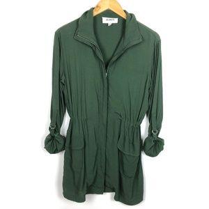 BB Dakota Lightweight Army Green Full Zip Jacket